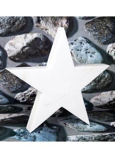 3Wdesign Yıldız Mermer Büyük Boy Obje Beyaz